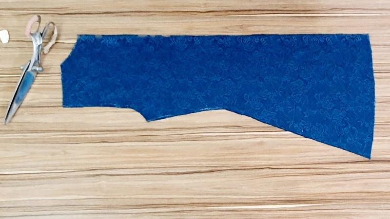 Dantel Kumaştan Pratik Hırka Yapımı lace cardigan making
