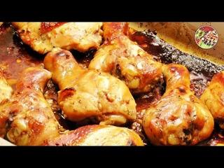 Куриные голени и бёдра запечённые в медовом соусе.. Очень просто и очень вкусно!