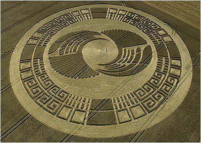 Круги на полях термин, обозначающий рисунки в виде колец, кругов и других геометрических фигур, появляющихся на полях с растениями, на песке, на болотах, на снегу и на льду Эти рисунки могут