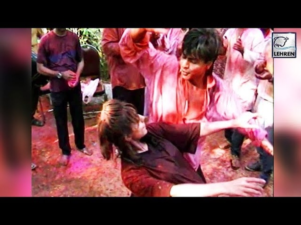 Throwback Video Shah Rukh And Gauri Khan's Crazy Dance At A HOLI Party
