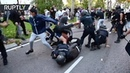 Violent clashes between police and protesters at Madrid rally against COVID restrictions
