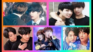When cute TaekooK is glued to each other (moments) - VkooK hugs selection