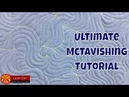 How to Quilt McTavishing! Quilting on a Home Machine and Longarm Frame