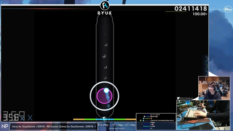 Osu! | RyuK | IOSYS - REUsatei [Extra] HD,DT 99.75 677pp 1 | Livestream!