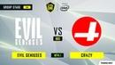 Evil Geniuses vs CR4ZY игра 1 BO3 ESL One Los Angeles Online