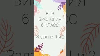 ВПР БИОЛОГИЯ  6 КЛАСС  задание 1 и 2