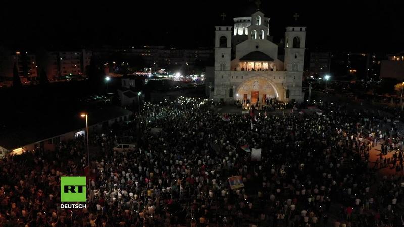 Montenegro Erneut landesweite Proteste gegen das umstrittene Religionsgesetz