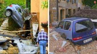 Сильное наводнение в регионе Крессье,  Швейцарии! Последствия ливня! #катаклизмы #Cressier #flood