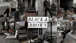 BLACK AND BROWN PRESET Lightroom Mobile Tutorial Free DNG