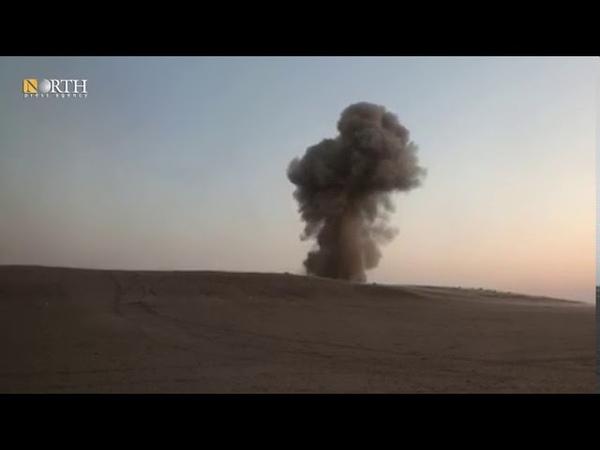 جانب من عمليات الاستهداف البري لأنفاق خلايا داعش بمنطقة وادي العجيج بريف دير الزور الشمالي