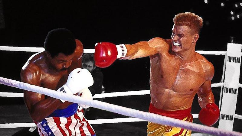 Дольф Лундгрен (Иван Драго) против Аполло Крида   Dolph Lundgren (Ivan Drago) vs Apollo Creed