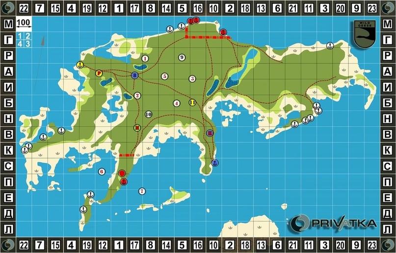 Карта игры «Берег — 2020»