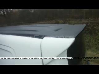 VW T5 Motorhaube Stossstange Dach Spoiler foliert mit Carbonfolie