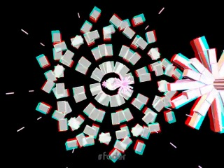 Stereoscopic anaglyph 3d visuals