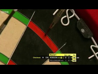 Gary Robson vs Ron Meulenkamp (BDO World Darts Championship 2014 / Round 1)