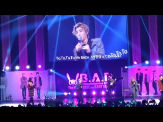 "[fancam:fan event] 140331 b.a.p - b.a.b.y @ фанмитинг ""the first date with baby japan"" в токио (япония)."