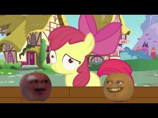 Annoying Orange meets My Little Pony