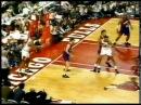 Scottie Pippen Inbounds Pass off Danny Ainge Back/Two Handed Dunk vsns Game 3-93Finals