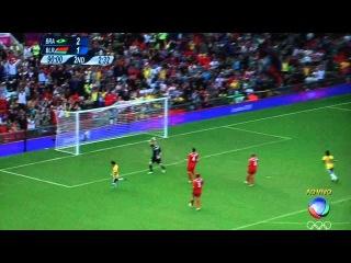 Neymar - Oscar - Goal - Brasil 3 x 1 Belarus - Olympic 2012
