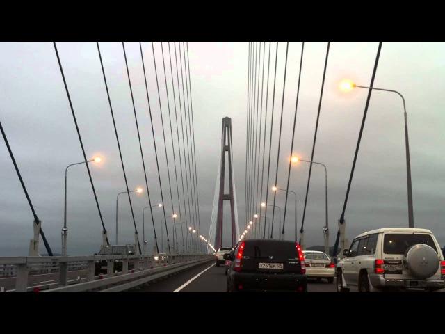 Мост на о Русский в день открытия для всех желающих