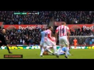 Whelan Stamp on Javi Garcia Foot - Not Even Card ! Howard Webb blind Stoke - MC