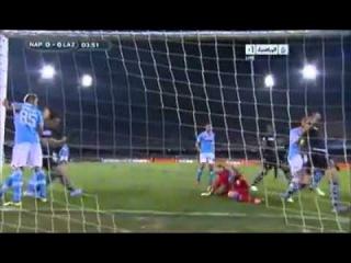 Miroslav Klose (Lazio) scores with his hand, tells ref to disallow it vs Napoli  AMAZING