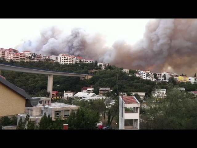 Масштабна лісова пожежа спалахнула на Адріатичному узбережжі у Хорватії