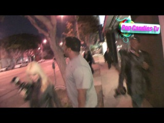 Chad Kroeger & Craig Robinson at Madeo in West Hollywood