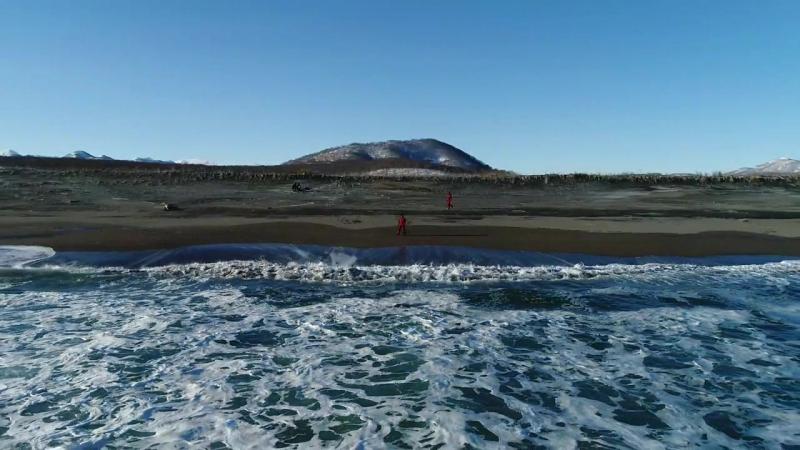 Сноукайтинг на берегу Тихого океана Камчатка Kiteteam Kamchatka media crew