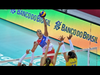 Top 20 BEST Volleyball Spikes by Tijana Boskovic - SPEED 100 km-h - Young Left handed GUN