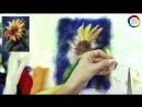 Картина из шерсти Подсолнух Мастер-класс 🌼 Школа Шерстяной Акварели Шешиной Екатерины