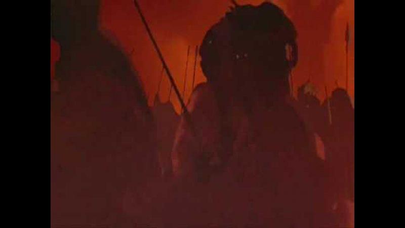 Orcs chanting at Helm's Deep Bakshi