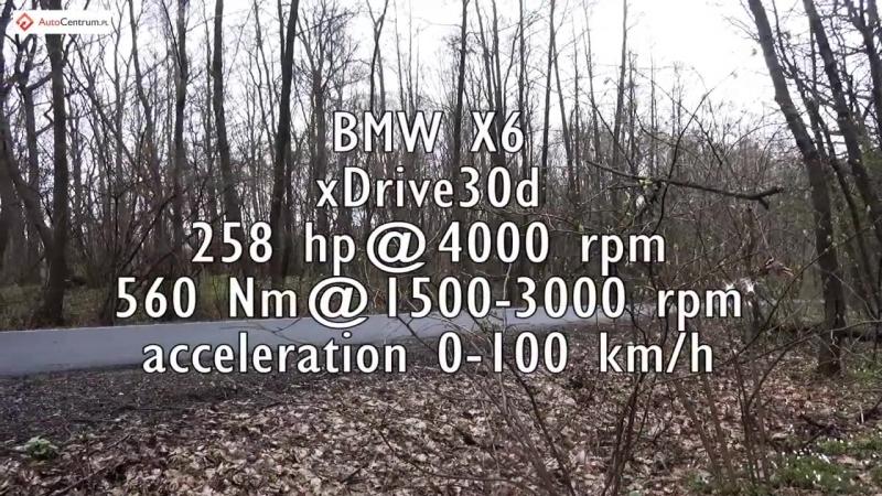 Разгон от 0 до 100 км ч BMW X6 xDrive 3 0d NaZa5aske