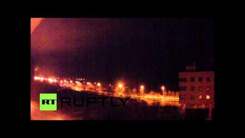 Donetsk Airport heavy sheling