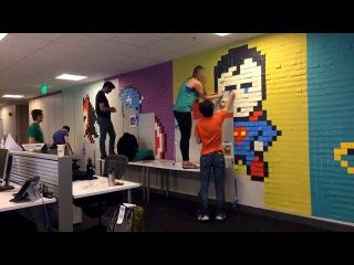 The Shop SF_Superhero Post-It Mural