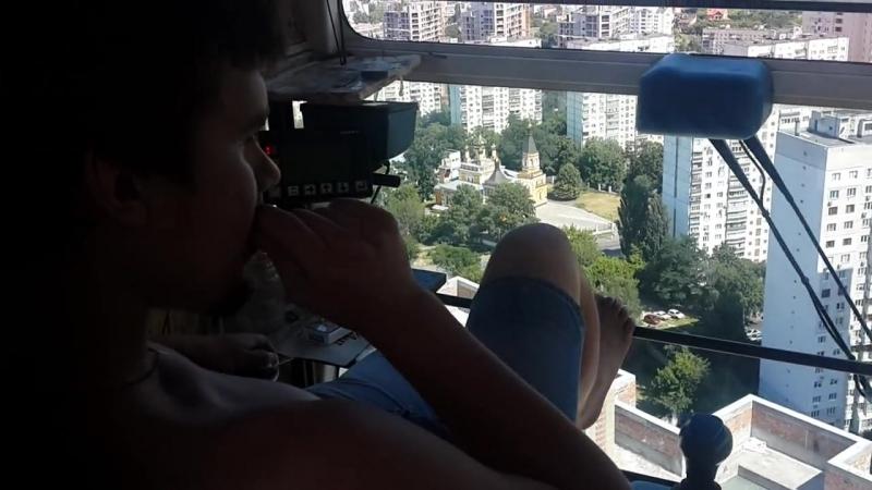 Мой первый опыт по работе на башенном кране)) (Potain MC175B) (ЖК Малахит)