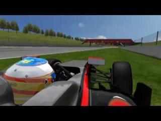 Alonso Barcellona Crash - Simulation