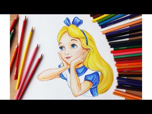 Уроки рисования Как нарисовать Алису Алиса в стране чудес Art School