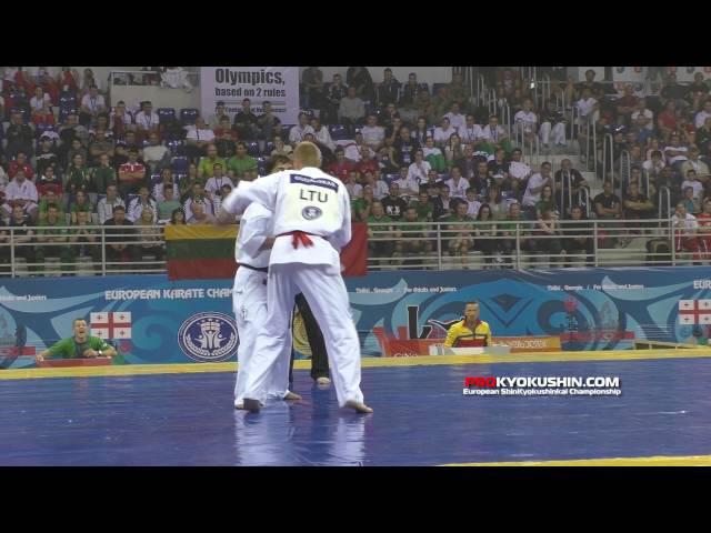 WKO EC 2016 Final 85 Valdemaras Gudauskas Lithuania Marius Ilas Romania