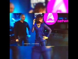 Nargis dancing and rapping at BBC Radio - Asian Network. She is adorable  But she dances and raps so good