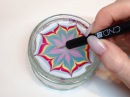 How To Produce Water Marbling Nail Art With Nail Polish CND VINYLUX