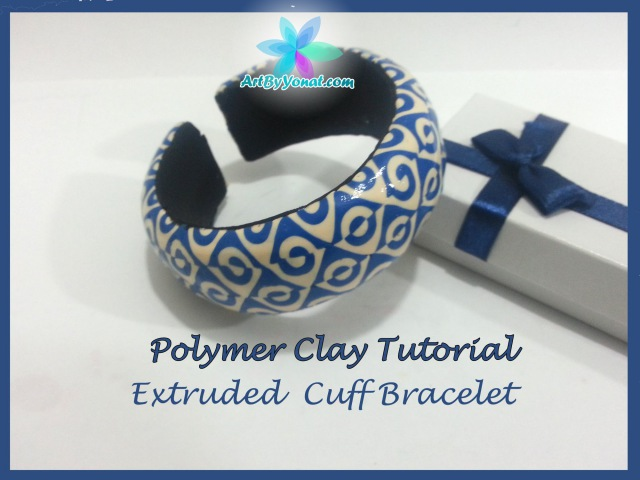 Polymer Clay Tutorial - Extruded Cuff Bracelet - Lesson 22