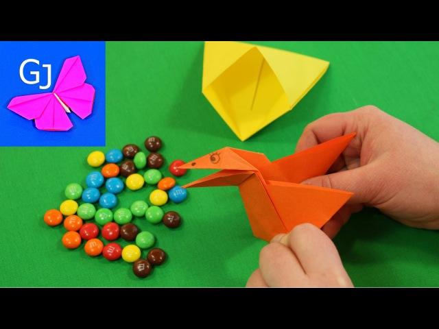 Оригами Сорока Воровка из бумаги ❀ Движущиеся оригами своими руками