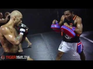MMA Fighter: Roger Huerta Pad Work