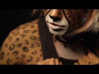 Cheetah boy. Amazing airbrush bodyart and makeup video! (Мальчик гепард. бодиарт, рисунок по телу)
