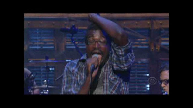 TV On The Radio Wolf Like Me Live on Letterman HD in sync