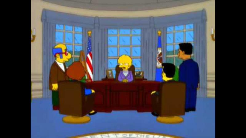 Lisa Simpson calls Donald Trump Presidency, Increased Debt