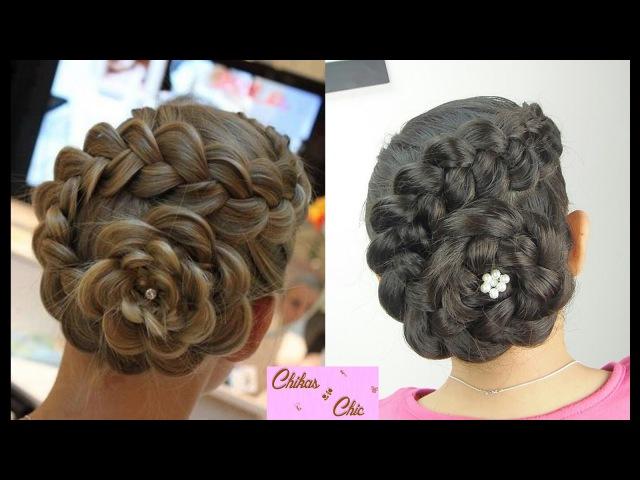 Peinado Recogido en Flor | Peinados con Trenzas | Peinados Elegantes