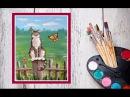 Как нарисовать кошку! Рисуем кота на заборе гуашью! Dari_Art