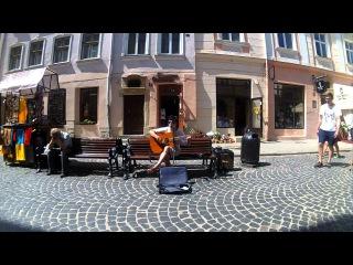 Lviv street musicians 017 Ярослав (Доктор Морфей) ч. 2